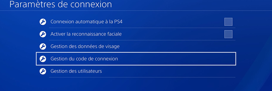Activer un code de connexion sur la PS4