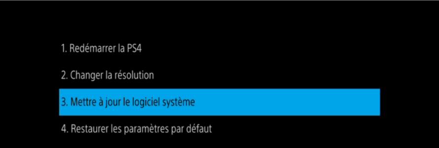 Installer la version PS4 depuis le mode sans-échec