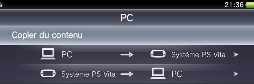 Copier du contenu de sa PS Vita sur PC