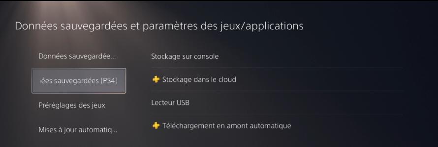 Transférer ses sauvegardes de jeux PS4 sur PS5 (PS+)